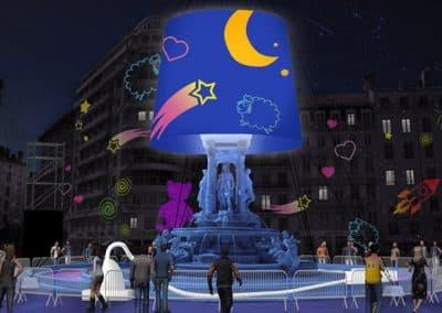 里昂灯节的起源_Fête des lumières de Lyon-2014-Lyon-place-des-jacobins-la-veilleuse