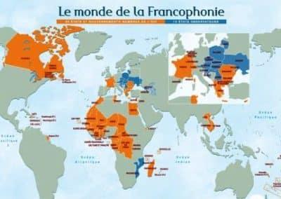 法语 La langue française_CARTE_francophonie