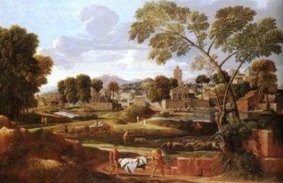 尼古拉·普桑 Nicolas Poussin_Orfeo-et-Euridice-1651