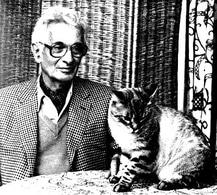 赫内·巴赫札维勒 René Barjavel Ecrivain et son chat toufou