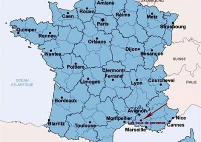 普罗旺斯地区莱博_Les Baux-de-Provence carte