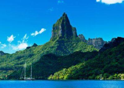 Montagne volcanique-塔希提岛_Tahiti