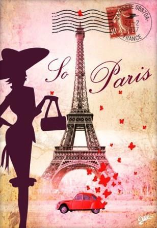 paris-femme-elegante-et-citroen-2cv-古斯塔夫·埃菲尔_Gustave Eiffel-tour-eiffel