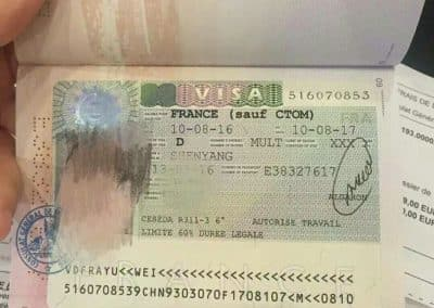 大连留学法国-VISA