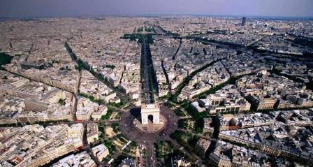 巴黎凯旋门_Arc de Triomphe de l'Étoile _Aerian