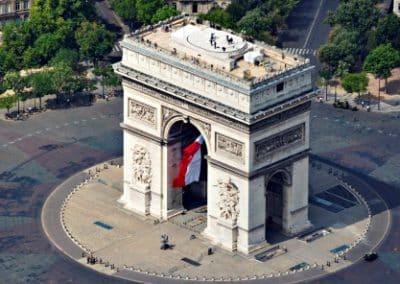 vue-aerienne-de巴黎凯旋门_Arc de Triomphe de l'Étoile