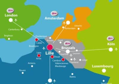 法国里尔-Lille-Carte