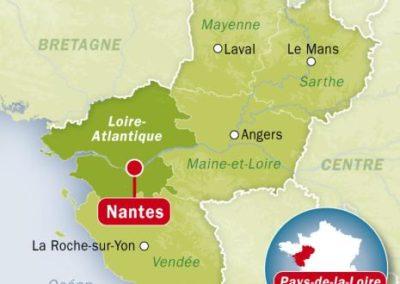 法国南特 Nantes-carte
